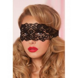 Antifaz Lace Eye Mask Satin Ribbon Ties Black O/S - lamaletarosada.com sex shop online Colombia